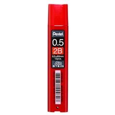 Грифели для механических карандашей Pentel AIN STEIN, 2B, 0,5 мм., 12 шт.