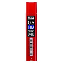 Грифели для механических карандашей Pentel AIN STEIN, HB, 0,5 мм., 12 шт.