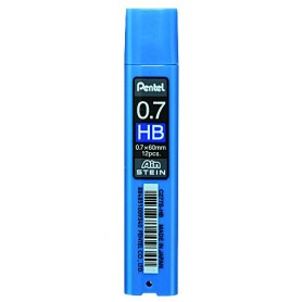 Грифели для механических карандашей Pentel AIN STEIN, HB, 0,7 мм., 12 шт.