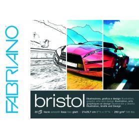 Альбом для рисования Fabriano Bristol 29,7x42 см., 20 л., 250 г/м2, склейка по короткой стороне