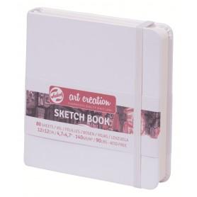 Блокнот для зарисовок Royal Talens Art Creation, 12х12 см., 160 г/м2, 80 л., твердая белая обложка