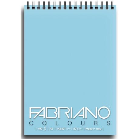 Блокнот для зарисовок Fabriano Colours 14,8x21 см., 100 л., 80 г/м2., Селеста