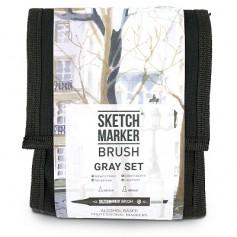 Набор маркеров SKETCHMARKER BRUSH 12 Gray Set - Серые оттенки