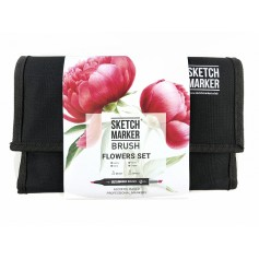 Набор маркеров SKETCHMARKER BRUSH 24 Flowers Set - Цветы