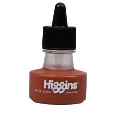 Чернила карминовые Higgins Carmine Red Dye-Based, 1 OZ (29,6 мл.)