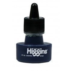 Чернила зеленыe Higgins Green Dye-Based, 1 OZ (29,6 мл.)
