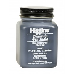 Чернила черные Higgins Fountain Pen India Ink, 2,5 OZ (73,9 мл.)