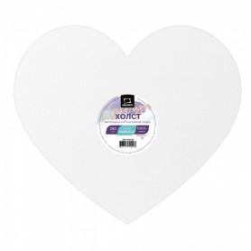 Холст на картоне в форме сердца Малевичъ, 30х26,25 см.