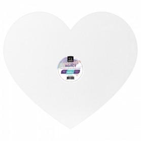 Холст на картоне в форме сердца Малевичъ, 40х35 см.