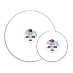 Холст грунтованный круглый на картоне Малевичъ, D: 18 см.