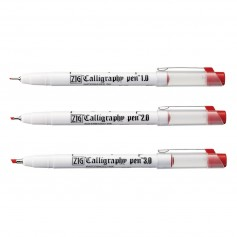 Ручки для каллиграфии скошенные Calligraphy Pen Oblique Tip, красный, в ассортименте