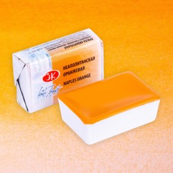 """Неаполитанская оранжевая акварель """"Белые ночи"""", кювет 2.5 мл."""