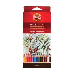 Акварельные цветные карандаши Mondeluz, 12 цветов, картон