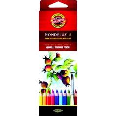 Акварельные цветные карандаши Mondeluz, 18 цветов, картон