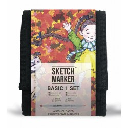 Набор маркеров Sketchmarker Basic 1 set 12 -  Базовые оттенки