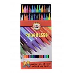 Цельнографитовые цветные карандаши Progresso, 24 цветов, картон