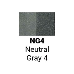 Маркер двусторонний Sketchmarker Нейтральный серый 4 (SMNG4, Neutral Gray 4)