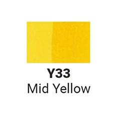 Маркер двусторонний Sketchmarker Средний желтый (SMY33, Mid Yellow)