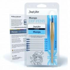 Набор для рисования манги William Mitchell Manga, 6 перьев + 2 держателя