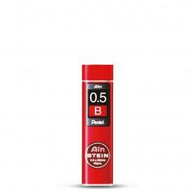 Грифели для механических карандашей Pentel AIN STEIN, B, 0,5 мм., 40 шт.