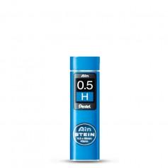 Грифели для механических карандашей Pentel AIN STEIN, H, 0,5 мм., 40 шт.