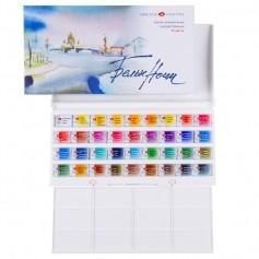 Акварельные краски Белые Ночи, 36 кюветов, пластмассовая коробка