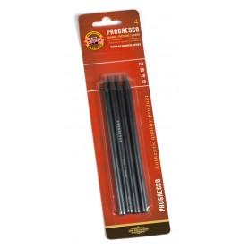 Набор чернографитных карандашей Koh-i-noor Progresso, 4 шт., в блистере
