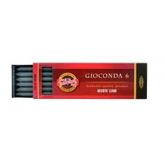 Набор графитовых грифелей Koh-i-noor Gioconda, 5.6 мм., 6 шт. 6B - 2B