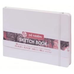 Блокнот для зарисовок пейзажный Royal Talens Art Creation, 21х14.8 см., 140 г/м2, 80 л., твердая белая обложка