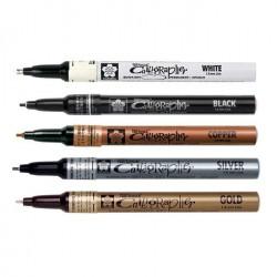 Маркеры для каллиграфии Sakura Pen-Touch Calligrapher, плоский стержень, 1.8 мм., 5 цветов