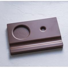 Подставка деревянная под чернильницу и держатель, коричневая