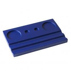 Подставка деревянная двойная под чернильницу и держатель, фиолетовая
