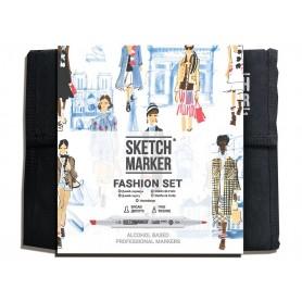 Набор маркеров SKETCHMARKER Fashion design 36 set - Дизайн одежды