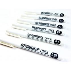 Черные капилярные ручки (линеры) Sketchmarker Liner