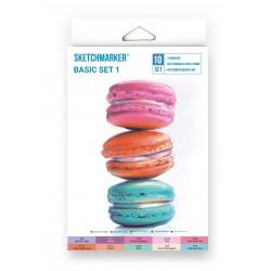 Набор маркеров SKETCHMARKER New Basic set 1 (10 маркеров, лайнер, скетчбук), картонная упаковка