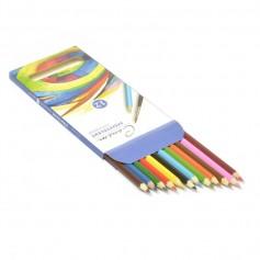 Набор акварельных карандашей Сонет, 12 цветов, картонная упаковка