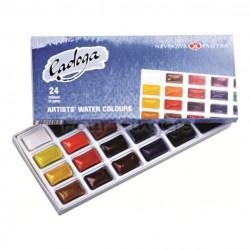 Набор акварели Ладога, 24 цвета в кюветах, картон