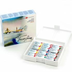 Акварельные краски Белые Ночи, 12 кюветов, пластмассовая коробка