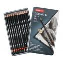 Набор чернографитных карандашей GRAPHIC SOFT, 12 шт., 9B-H