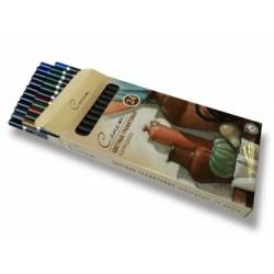 Набор водорастворимых цветных графитовых карандашей Сонет, 24 шт.